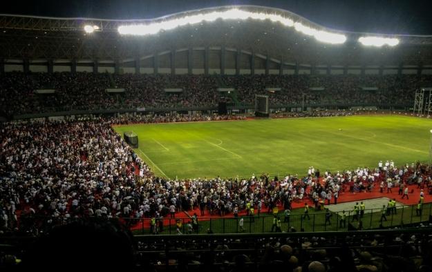 Peserta kuliah umum Dr. Zakir Naik memadati Stadion Patriot, Bekasi