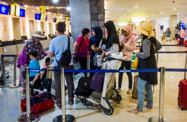 Check in di Bandara I Gusti Ngurah Rai