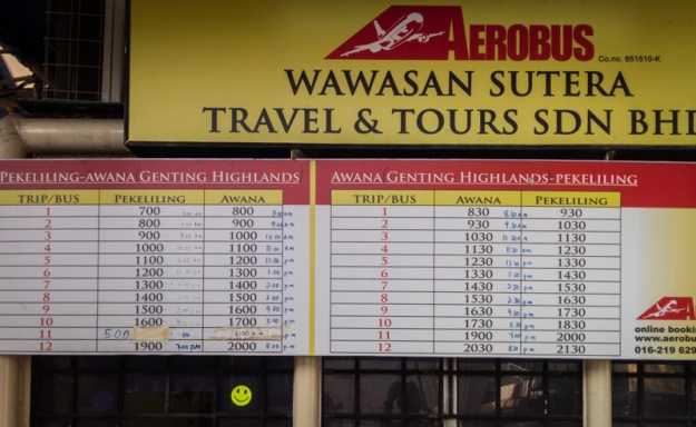 Jadwal Aerobus Pekeliling-Awana Genting Highlands PP