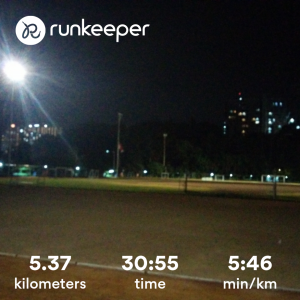 Catatan lari Runkeeper