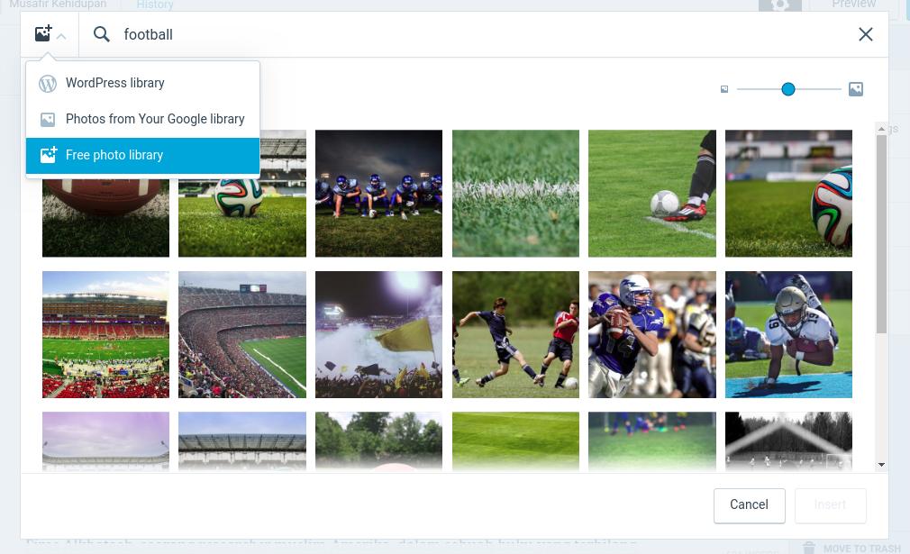 Wordpress Free photo library