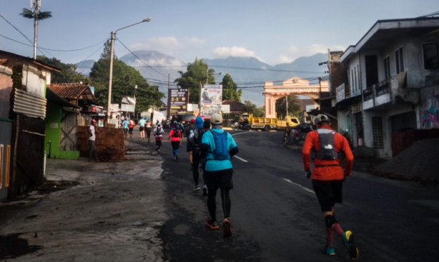 Kilometer awal Goat Run Gunung Guntur