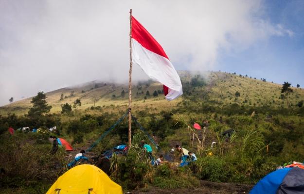 Area perkemahan Gunung Guntur
