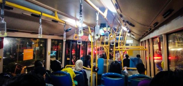 Suasana di dalam bus RapidKL