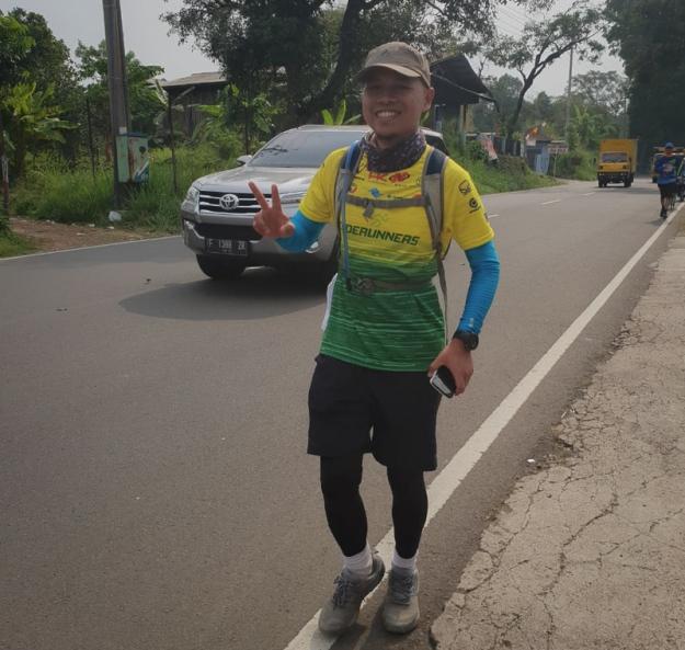 Berlari di daerah Cugenang, Cianjur (photo by Mas Alham IF'87)