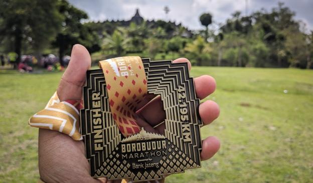 Medali Borobudur Marathon 2018