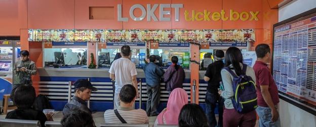 Loket di Stasiun Bandung