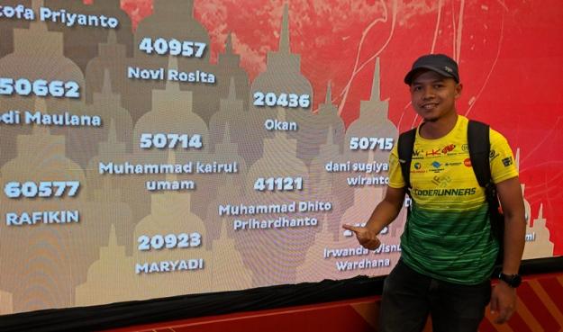 No BIB di Borobudur Marathon 2018