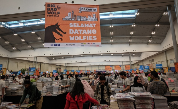 Kepadatan di Big Bad Wolf Indonesia 2019