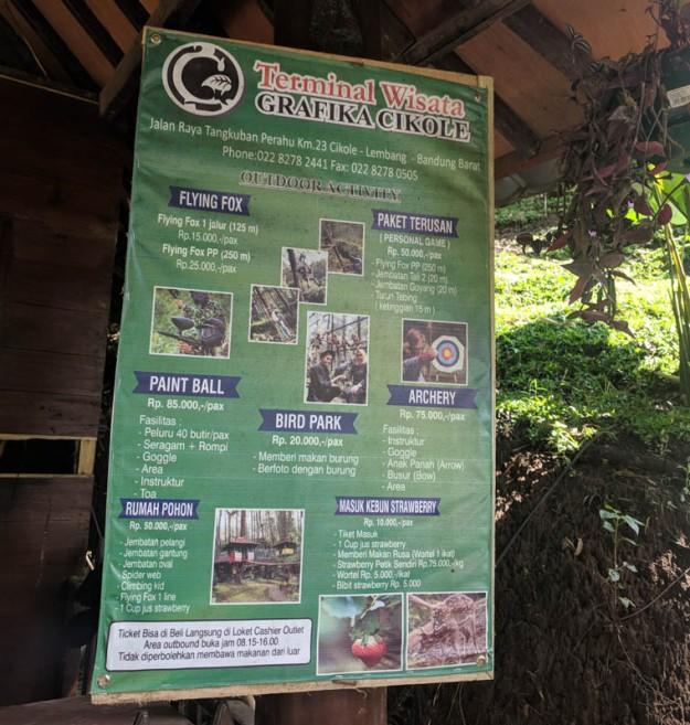 Daftar aktivitas outdoor di Grafika Cikole