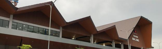 Atap Stasiun Malang Kota Baru